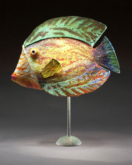 Green Yellow Fish Lamp