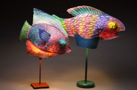 Two Fish Lamps